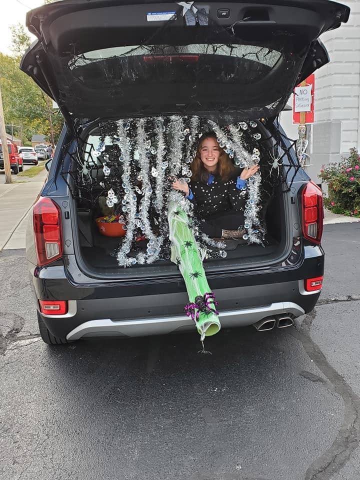 girl in a trunk